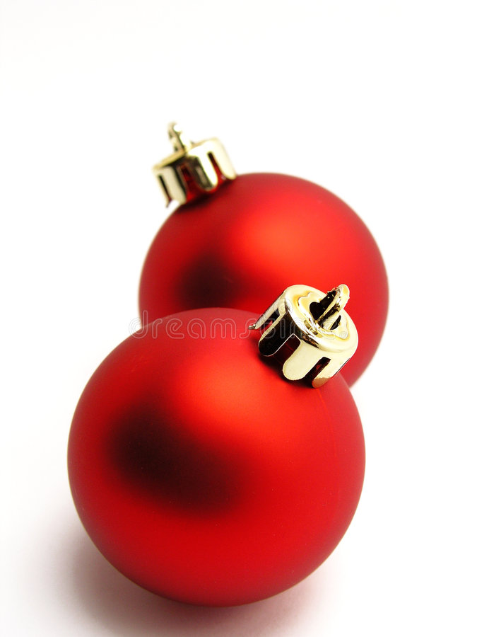 Red christmas balls stock photography