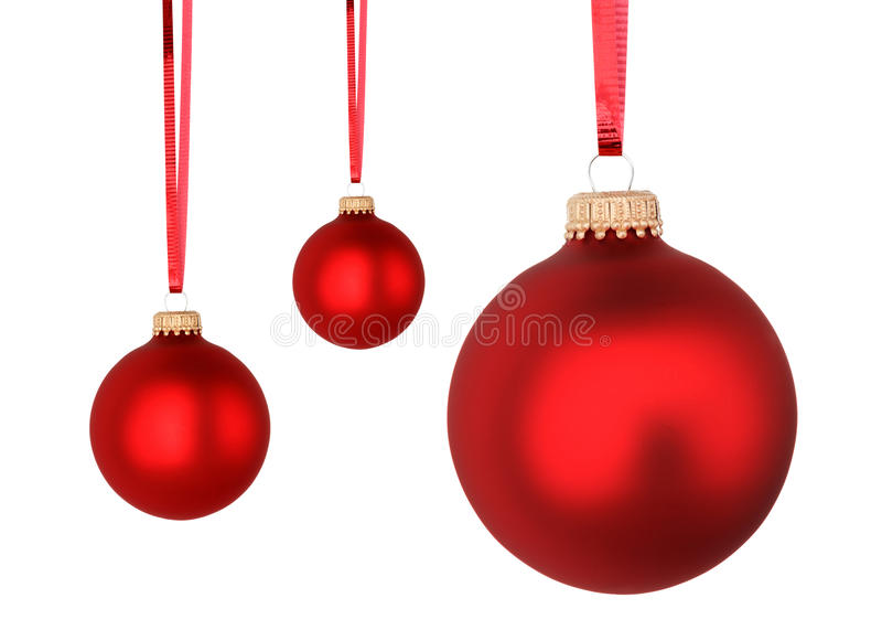 Red Christmas balls royalty free stock images