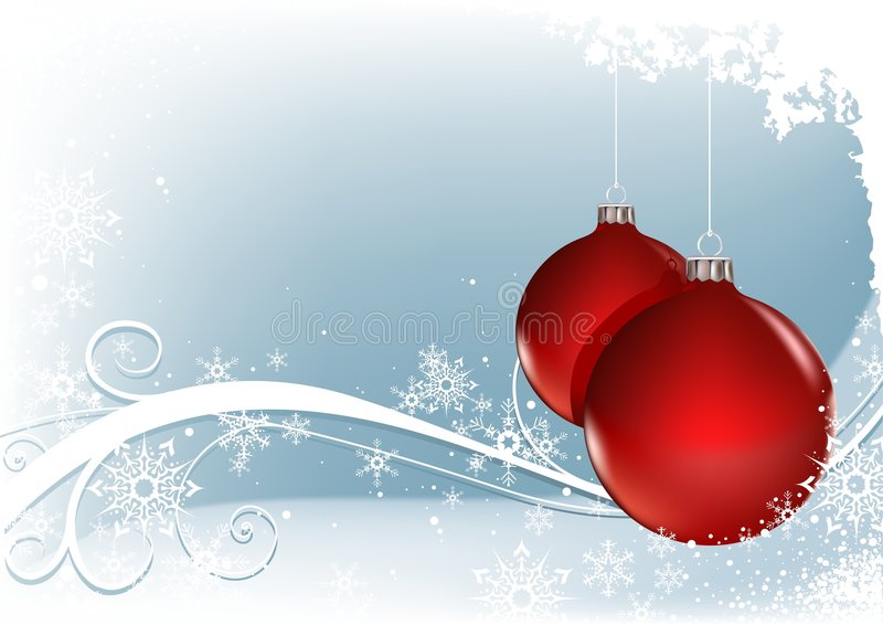 Red Christmas Balls. Vector illustration as christmas background