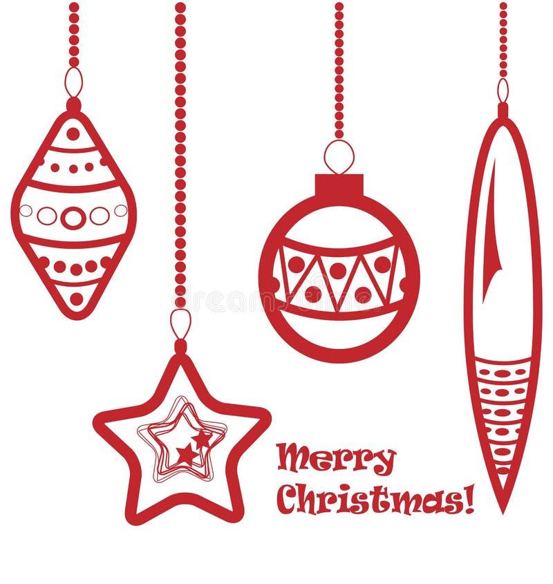 Download Red Christmas Balls Garland Stock Vector - Image: 21988154