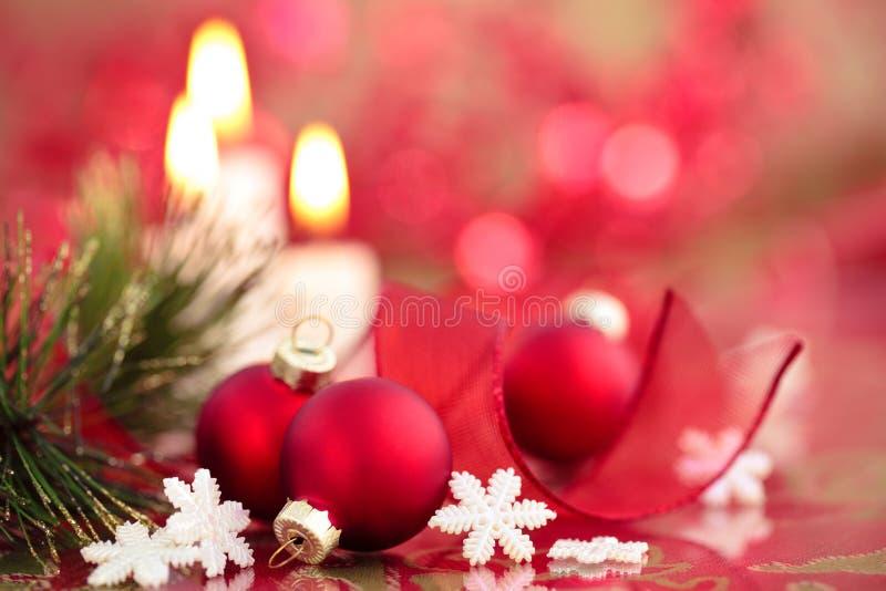 Red Christmas balls. royalty free stock photos