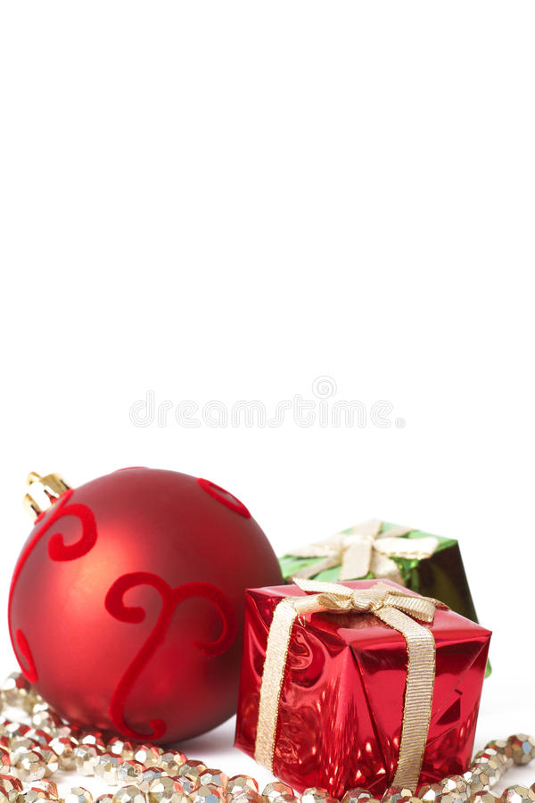 Download Red Christmas Bauble And Gifts Royalty Free Stock Photo - Image: 17322475