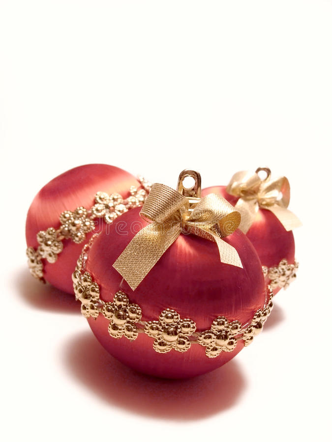 Free Red Christmas Baubles Stock Image - 9722511