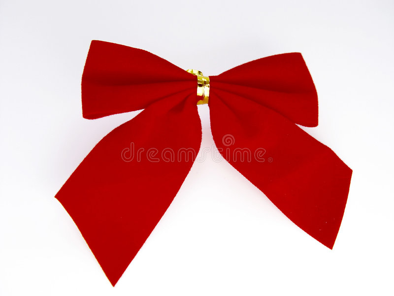 Download Red Christmas Bow stock photo. Image of decor, seasons, lace - 37218