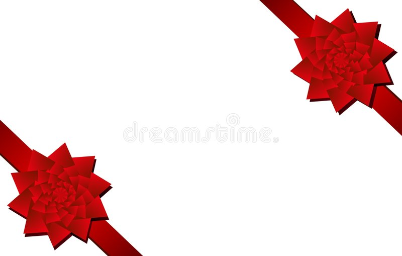 Download Red Christmas Bows Corner Pieces Stock Illustration - Image: 3636252