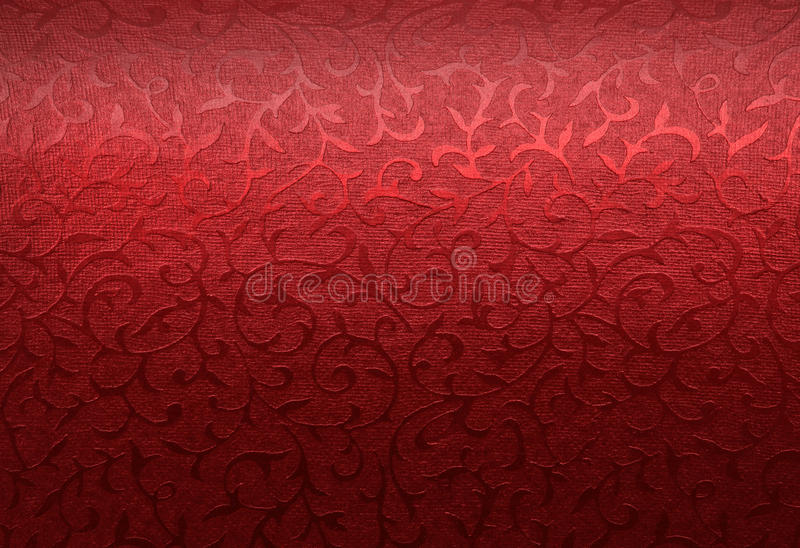 Red Christmas brocade pattern royalty free stock photo