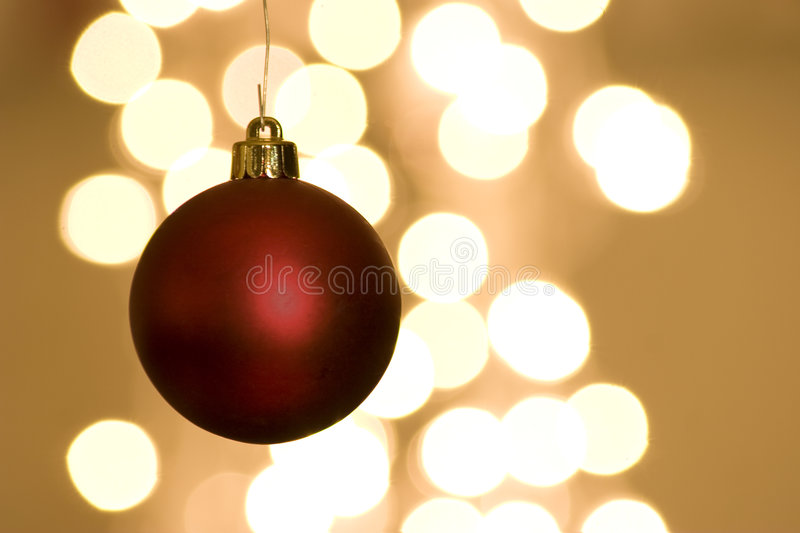 Download Red Christmas Bulb With Lights Stock Photo - Image: 6222960