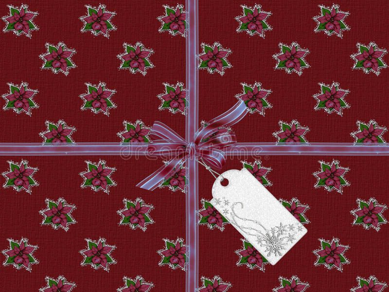 Red Christmas Card. Elegant Card with a beautiful red Christmas Design stock illustration