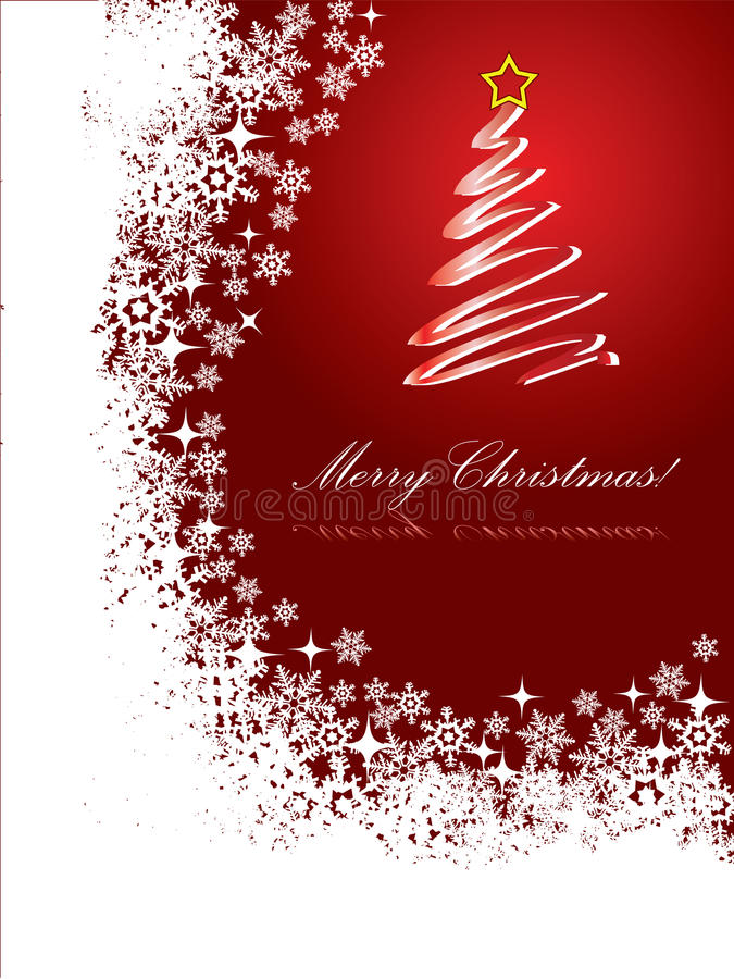 Download Red Christmas card 2 stock vector. Illustration of celebration - 12078946