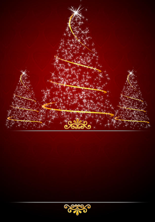 Red Christmas Card Background Royalty Free Stock Photography