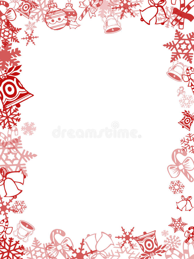red christmas card frame stock illustration illustration of winter