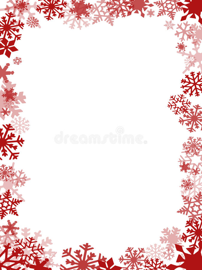 Red Christmas card frame royalty free illustration