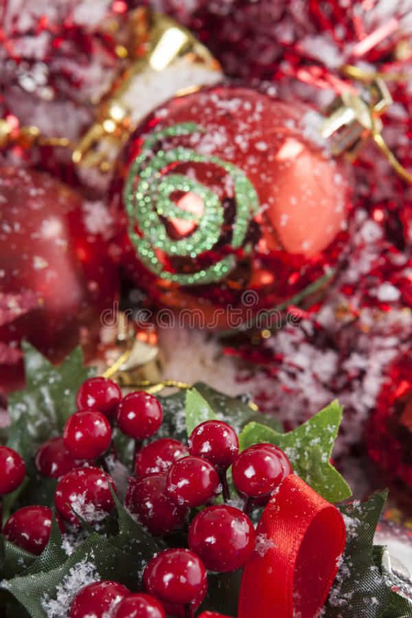 Red Christmas decoration royalty free stock images