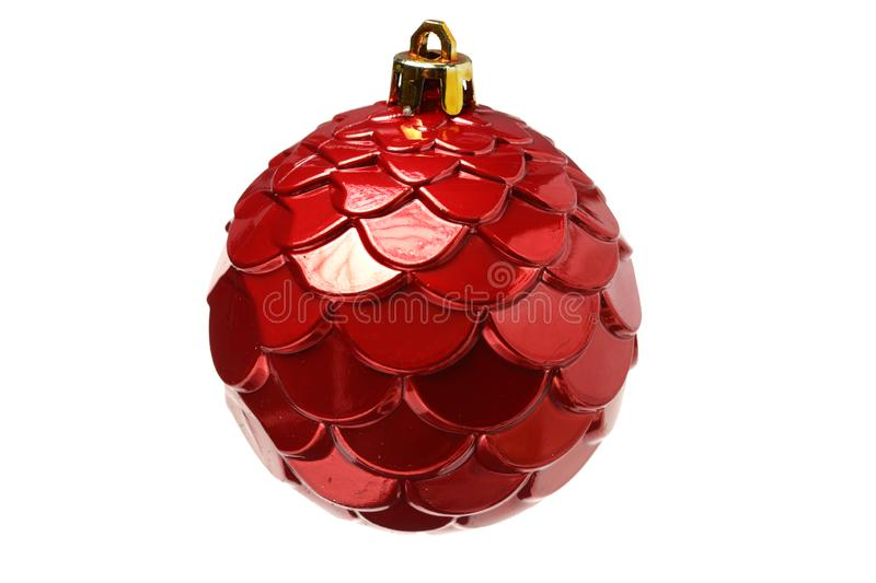 Red christmas decoration. Isolated on white background stock photos