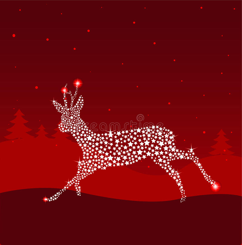 Red Christmas Deer Royalty Free Stock Image