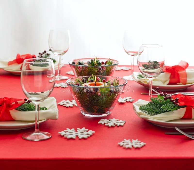 Download Red Christmas Dinner Table Setup Stock Image - Image of flower advent 39122975 & Red Christmas Dinner Table Setup Stock Image - Image of flower ...