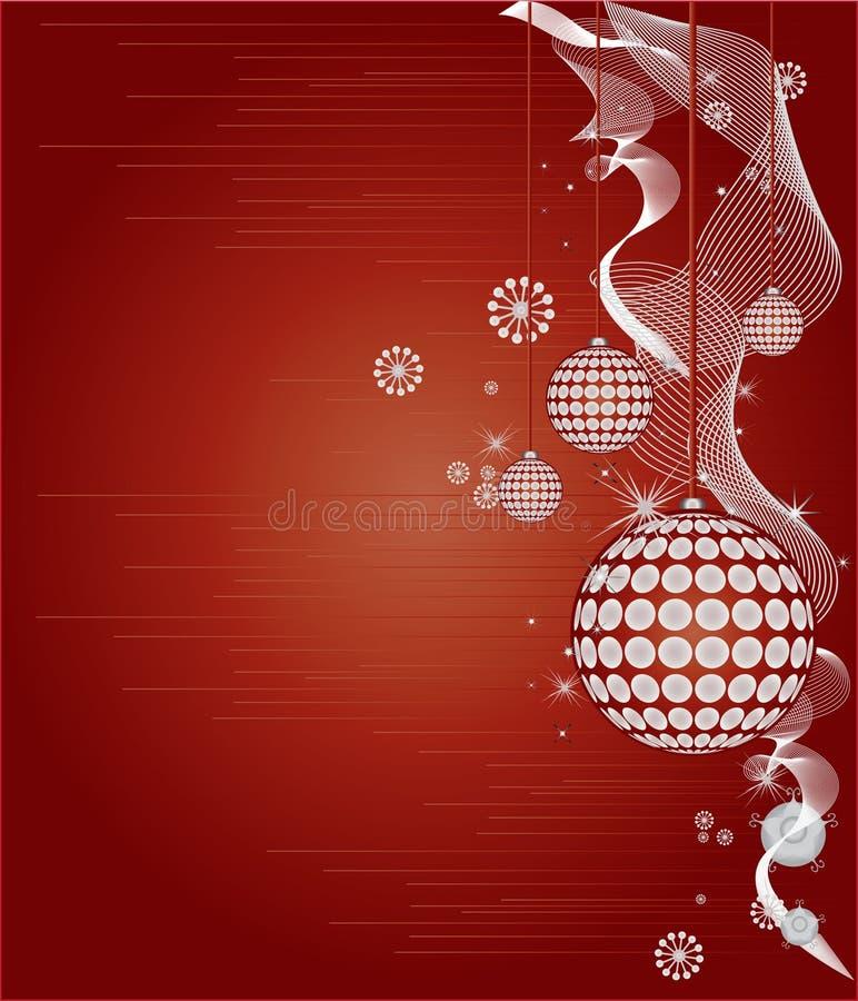 Red Christmas Frame Vector stock illustration