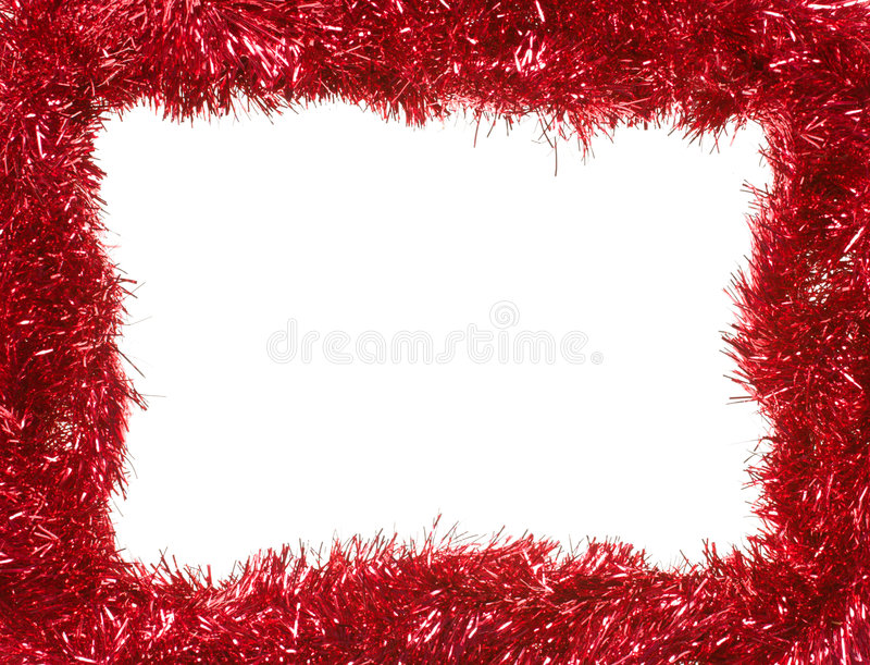 Download Red Christmas Garland, Rectangular Frame Royalty Free Stock Photography - Image: 6546327