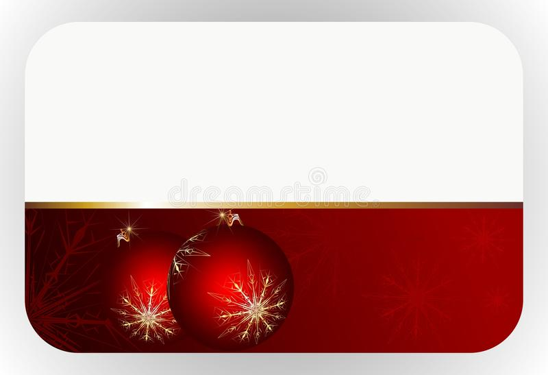 Download Red christmas gift card stock vector. Image of illustration - 21675976