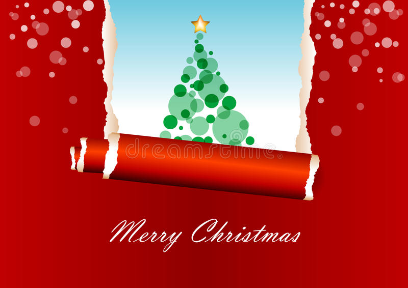Download Red Christmas Greeting Card Stock Illustration - Image: 11711829