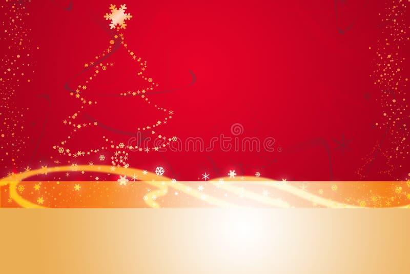 Red christmas illustration royalty free illustration