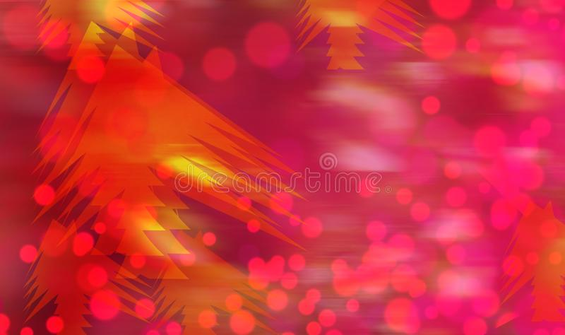 Red Christmas Lights Abstract Background royalty free stock images