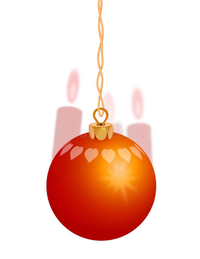 Free Red Christmas Ornament 1 Royalty Free Stock Photos - 1090978