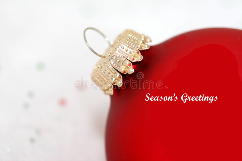 Red christmas ornament with royalty free stock images