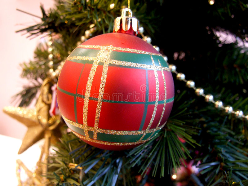 Download Red Christmas Ornament On Tree Stock Photo - Image: 1689368