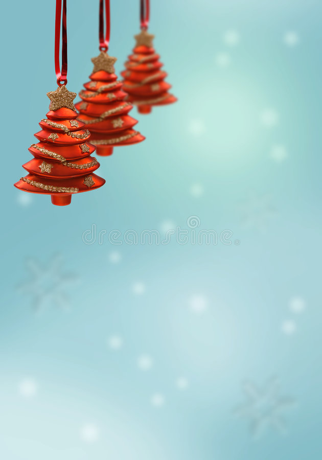 Download Red christmas ornaments stock illustration. Image of card - 1536859