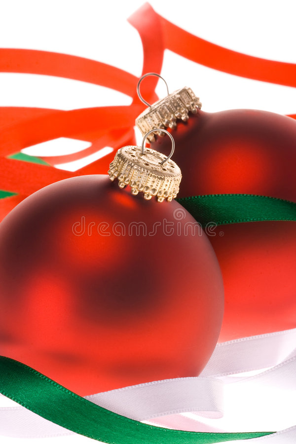 Red Christmas Ornaments Royalty Free Stock Image