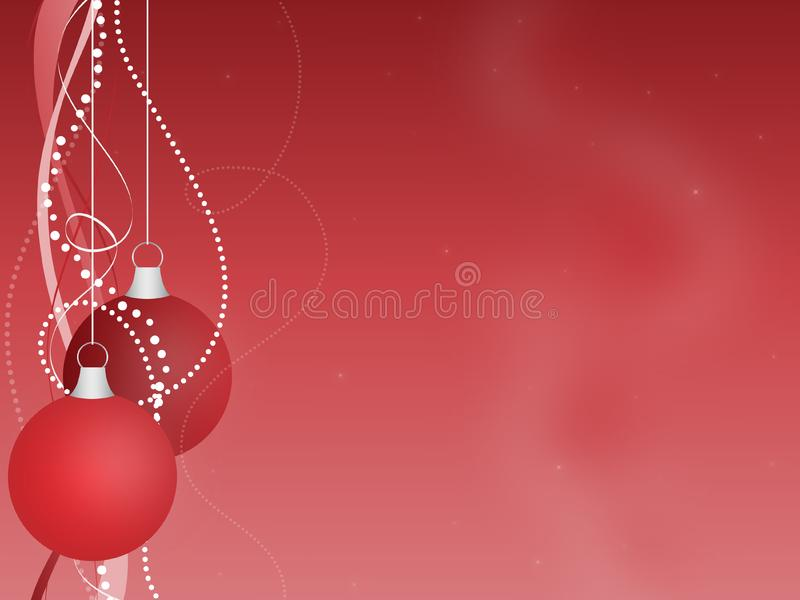 Red Christmas Ornaments Background royalty free stock photos