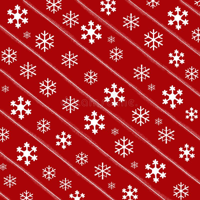 Red Christmas Paper Background vector illustration
