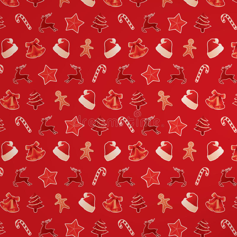 Download Red Christmas Seamless Pattern Royalty Free Stock Images - Image: 21695469