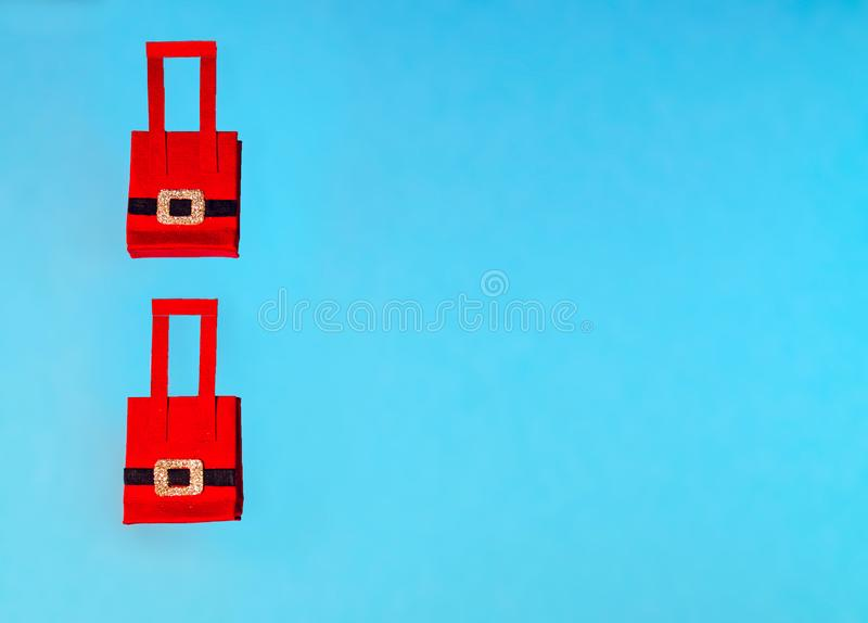 Red Christmas shopping bag stock images