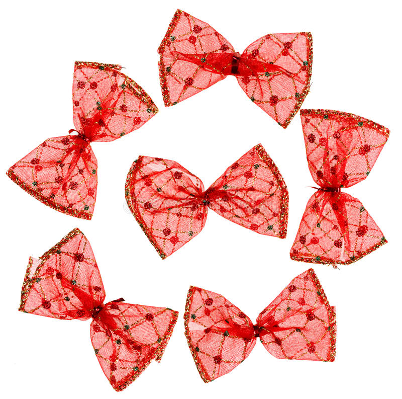 Download Red Christmas spotted bows stock image. Image of gloss - 26640251