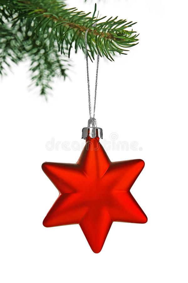 Red christmas star royalty free stock photo