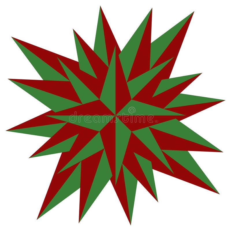 Red christmas star vector illustration - Holdiay decoration stock photo