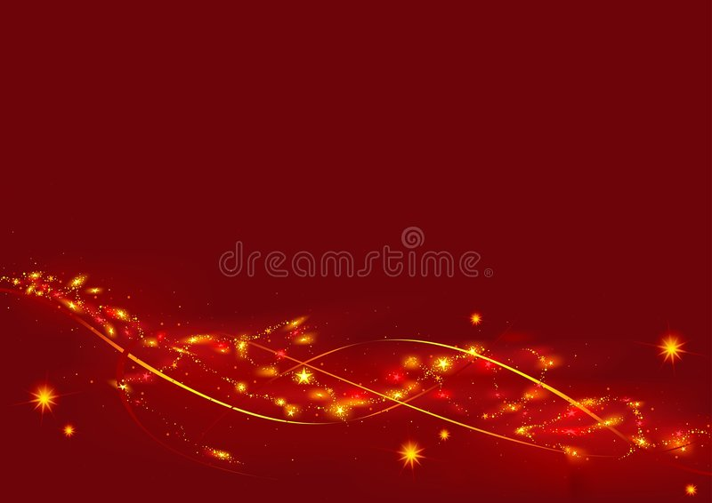 Download Red Christmas with Stars stock vector. Illustration of clip - 3332645