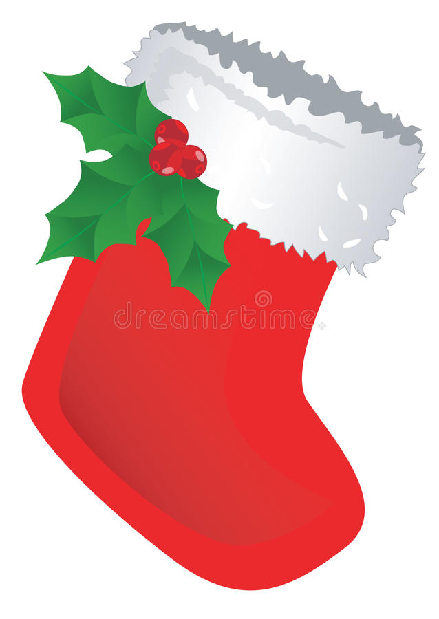 Download Red Christmas Stocking stock vector. Image of traditional - 17352423