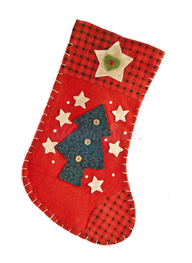 Red Christmas stocking for gifts