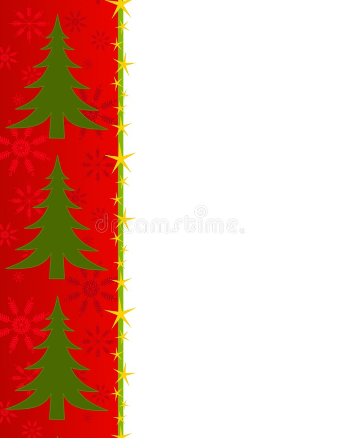 Download Red Christmas Tree Border stock illustration. Image of snowy - 3551520