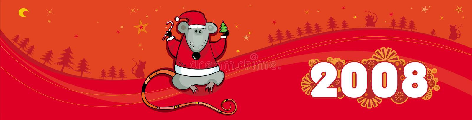 Download Red Christmas Vector Banner Wi Royalty Free Stock Photos - Image: 3738158