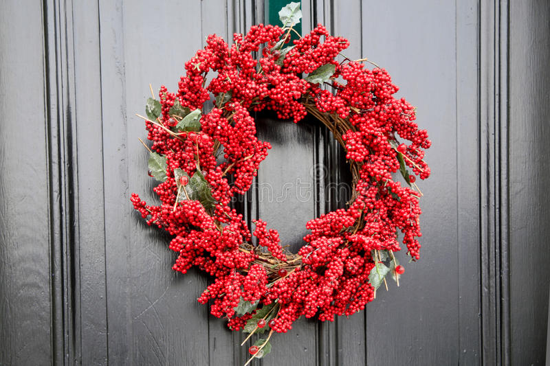 Download Red Christmas Wreath stock photo. Image of hanging, wreath - 26650996
