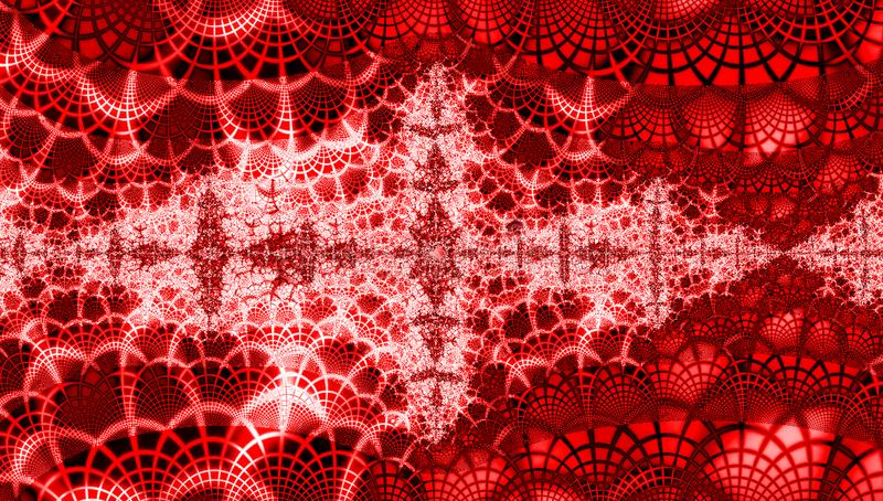 Luxury red christmass background with grenadine and white snowflakes royalty free illustration