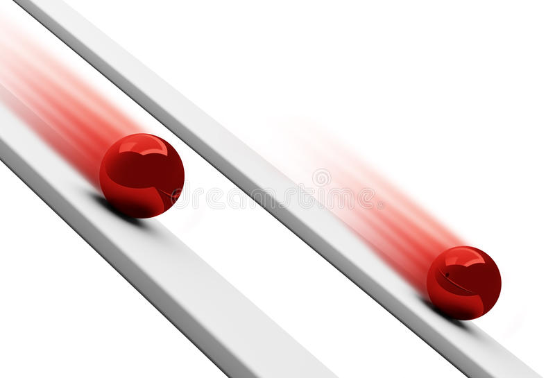 Download Red Chrome Balls Rolling Downwards 3d Stock Illustration - Image: 14525301