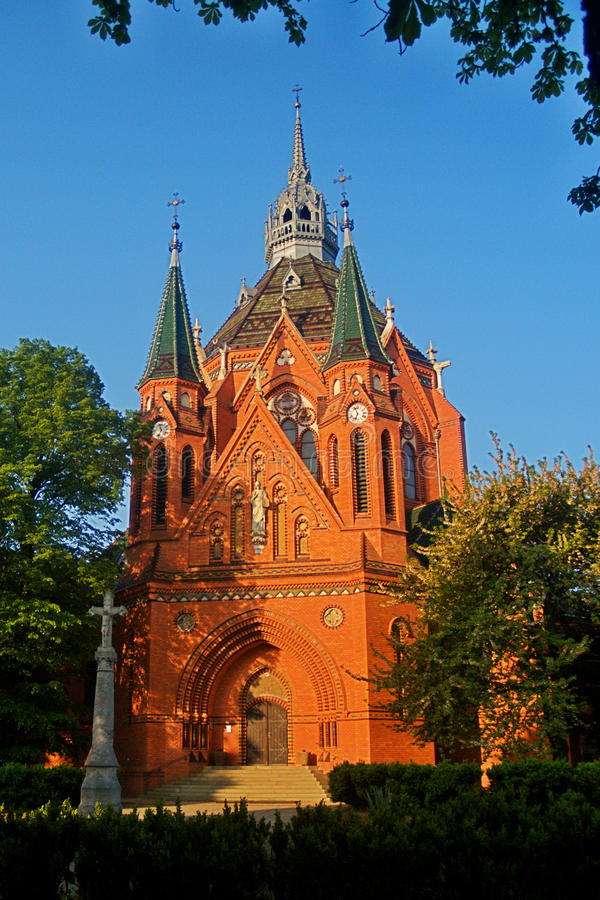 Free Red Church In Postorna Stock Photos - 14481293