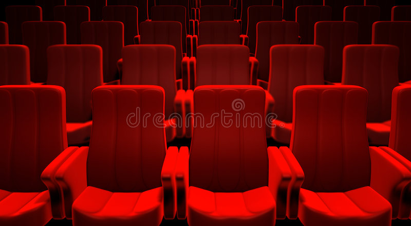 Download Red Cinema Seats stock illustration. Image of entrance - 8995417