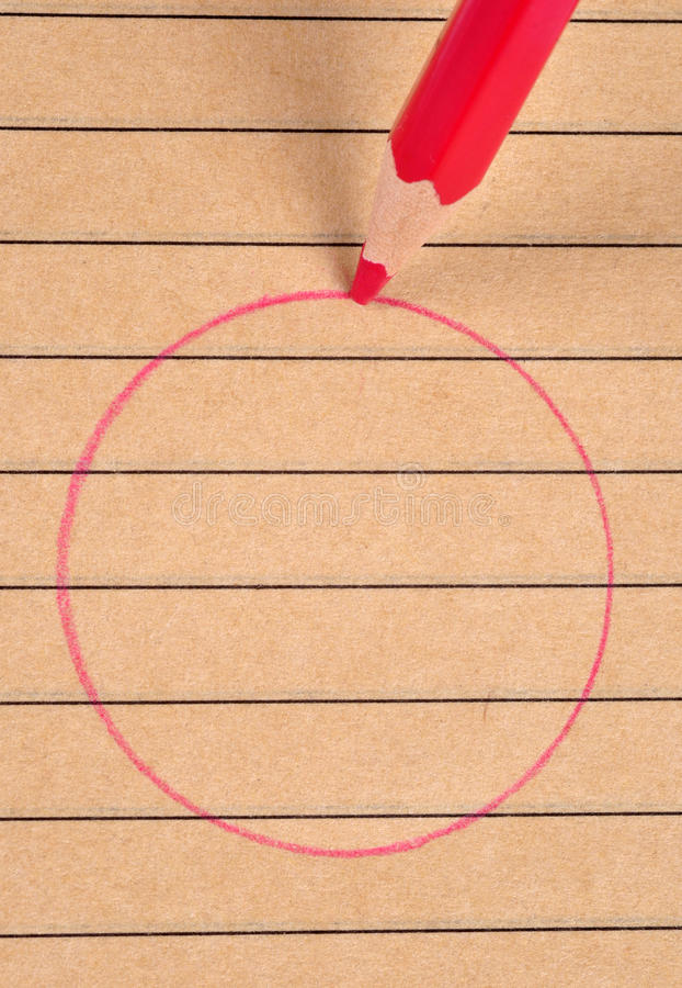 Download Red circle. stock photo. Image of round, stationery, drawing - 22027522