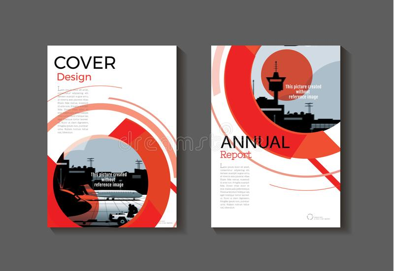 red Circle abstract cover design modern book cover abstract Brochure cover template,annual report, magazine and flyer layout royalty free illustration